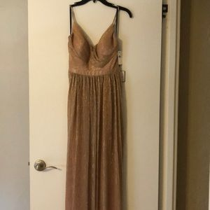 Laundry by Shelli Segal Long Taupe Dress, size 2.